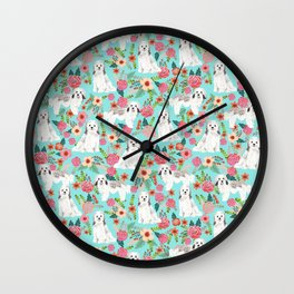 Havanese floral dog breed pure breed dog gifts Wall Clock