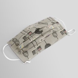 Paper Cut-Out Video Game Controllers Face Mask