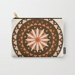 Jivin' - mandala trendy 70s style retro colors decor circle sun Carry-All Pouch