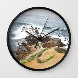 The Pacific Coast Along PVE, CA Wall Clock