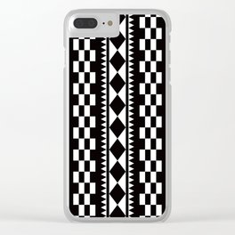 Geometric Pattern #177 (edie sedgwick) Clear iPhone Case
