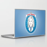 leslie knope Laptop & iPad Skins featuring Vote Knope by geeksweetie