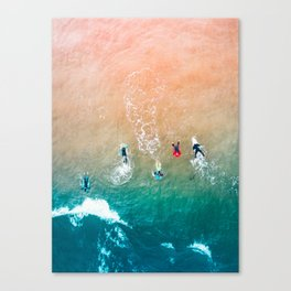 Five Surfers v1 Canvas Print