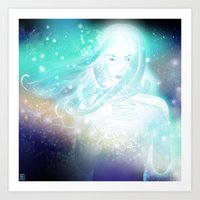 aurora Art Prints featuring Aurora by Stevyn Llewellyn