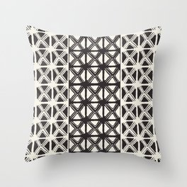 B&W Tribal #society6 #tribal Throw Pillow