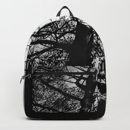 The Trees - Black And White Backpack