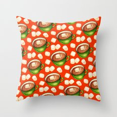 Hot Cocoa Pattern Throw Pillow