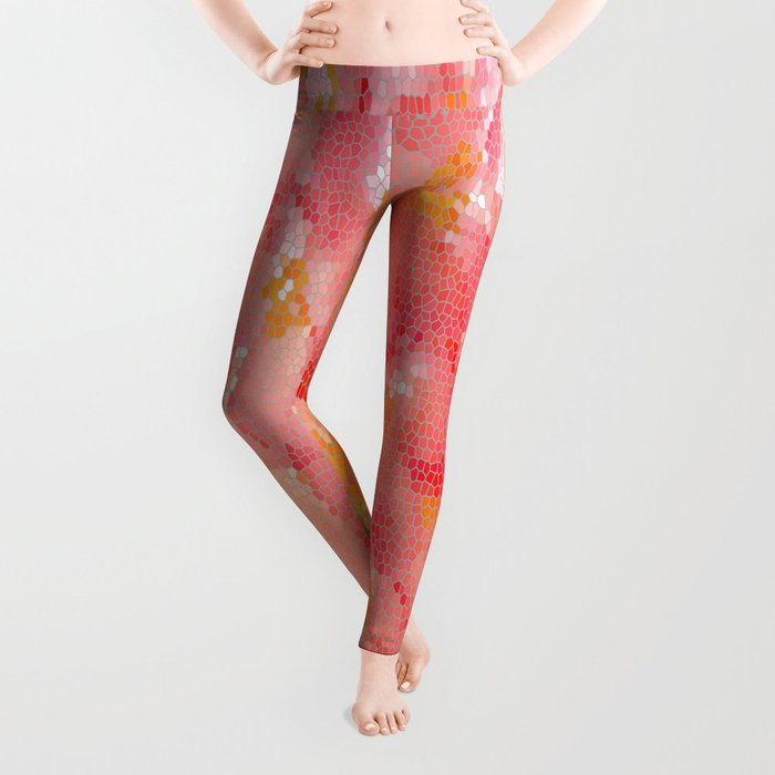 Mexico Blossom Pink & Yellow Flower Leggings