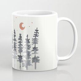 Nighttime Watercolor Forest Coffee Mug