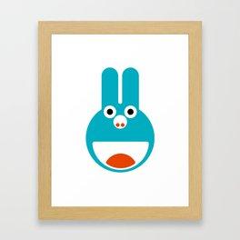Loopy Bunny Framed Art Print