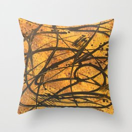 Sound of the Hive Throw Pillow