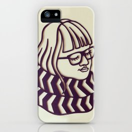 Glasses & Scarf iPhone Case