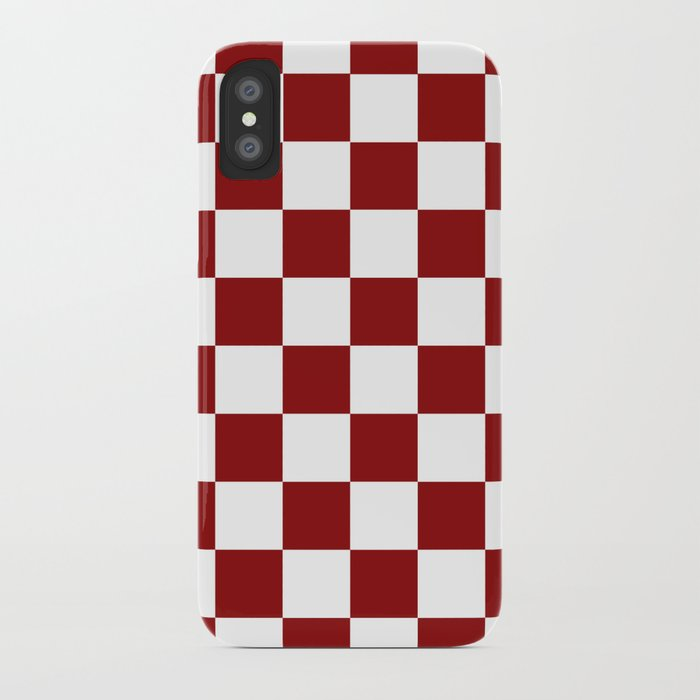new styles 5374b d7565 Red White Checker iPhone Case