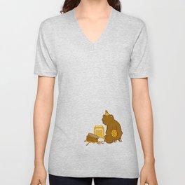 Birthday Bear Unisex V-Neck