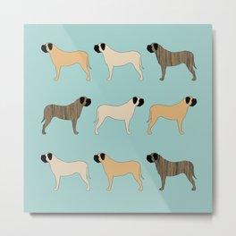 Mastiff Pattern Metal Print