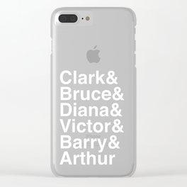 League of Super Friends (White) Clear iPhone Case