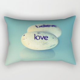 Love is Written in Stone Rectangular Pillow