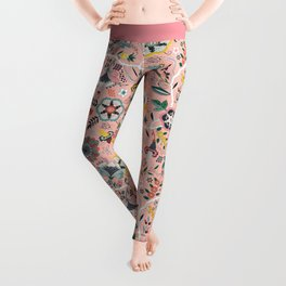 BOHO Chintz (Coral Pink) Leggings