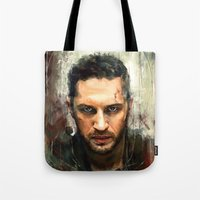mad Tote Bags featuring Mad Max by Wisesnail