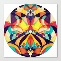 geometry Canvas Prints featuring Poetry Geometry by Anai Greog