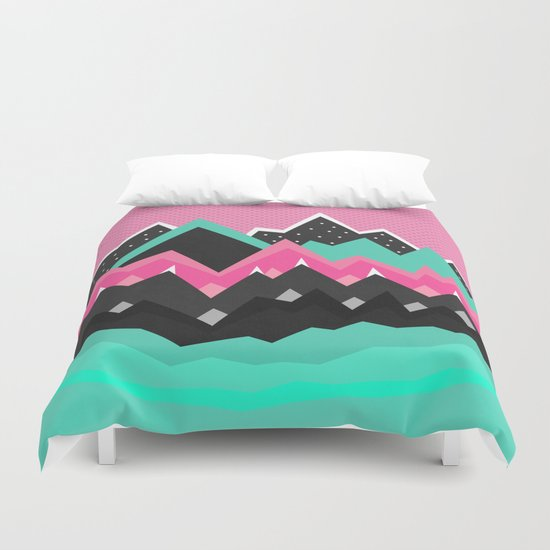 Little land of frosting Duvet Cover