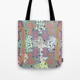 Ceramic Objects, Neon Blips Tote Bag