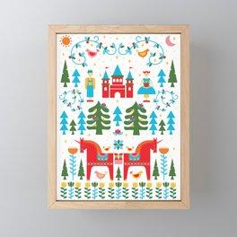 Scadinavian Fairytale Bright Framed Mini Art Print