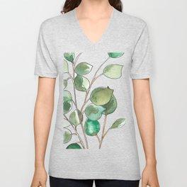 Silver Dollar Eucalyptus Unisex V-Neck