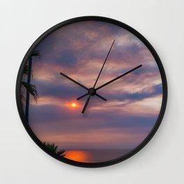 Smokey La Jolla Sunset Wall Clock