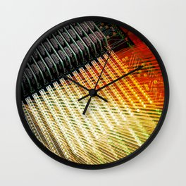 Technology Circuit Wall Clock