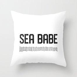 Sea Babe Throw Pillow