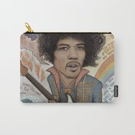 Jimi Hendrix - 11 Moons Played Across The Rainbows Carry-All Pouch