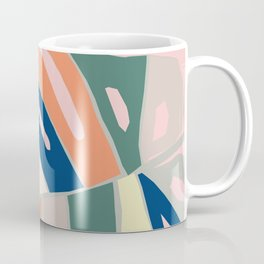 monstera plant leaf paper collage mid century modern Coffee Mug