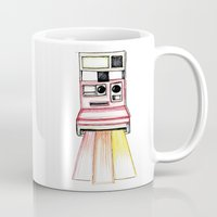 polaroid Mugs featuring Polaroid by Ilariabp.art