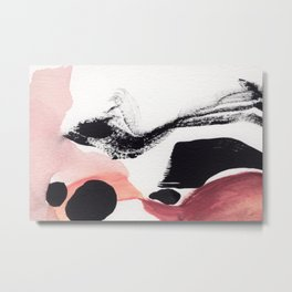 Blush Abstract Art Metal Print