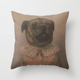 Vintage Sophisticated Dog Illustration (1878) Throw Pillow