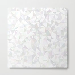 White triangle mosaic Metal Print