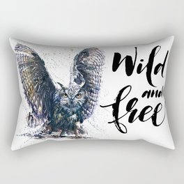 Owl wild & free Rectangular Pillow