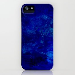 Blue Night- Abstract digital Art iPhone Case