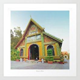 Buddhist Temple Vientiane Laos Art Print