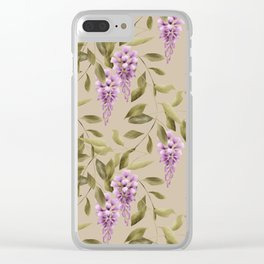 Seamless floral retro pattern background flowers Clear iPhone Case
