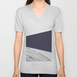 Marble Eclipse blue Geometry Unisex V-Neck