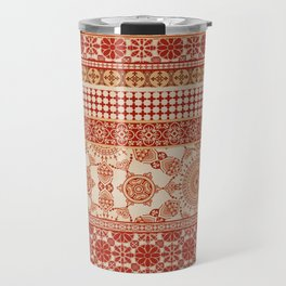 Ornate Moroccan in Red Travel Mug
