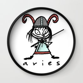 aries in the house(s)! Wall Clock