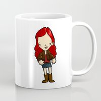 amy pond Mugs featuring AMY by Space Bat designs