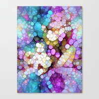 bubbles Canvas Prints featuring Happy Colors by Joke Vermeer
