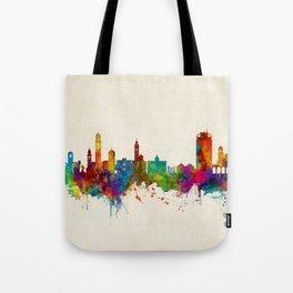 Lugano Switzerland Skyline Tote Bag