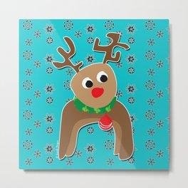 Santa's Reindeer Metal Print