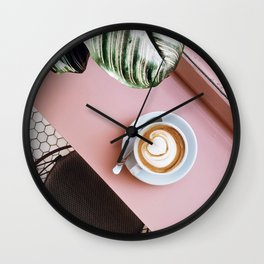 pink latte Wall Clock