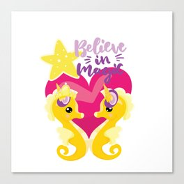 Is it a seahorse? Is it a unicorn? It is magic Canvas Print